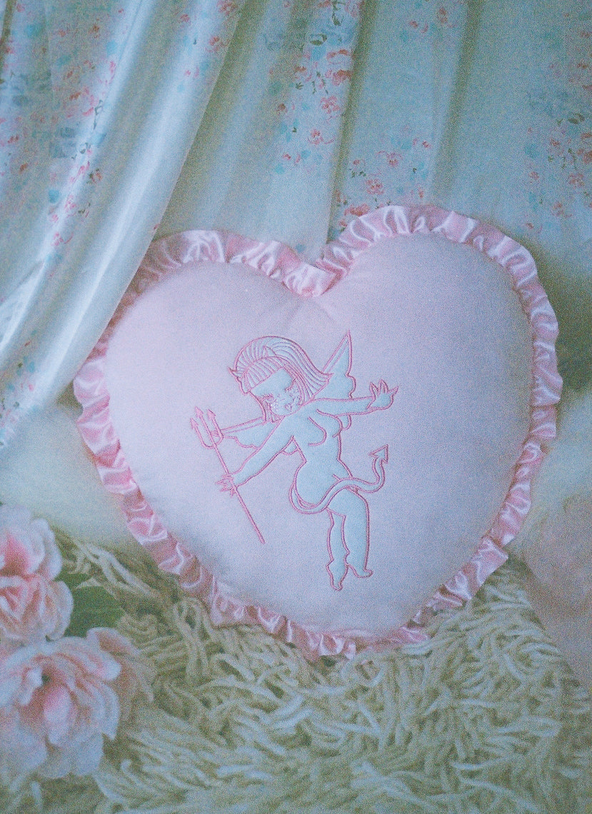 Cherub Heart Pillow