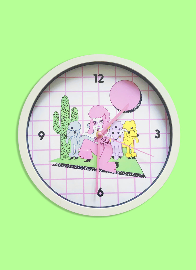 Memphis Mutts Wall Clock