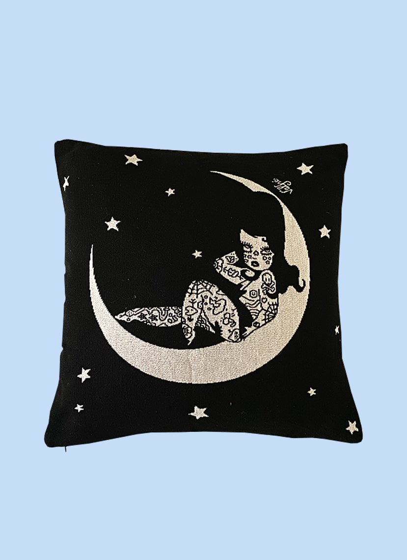 Over The Moon Throw Pillow