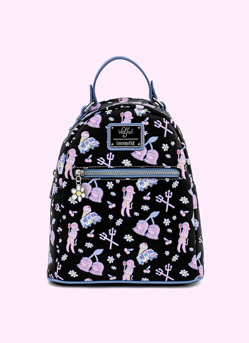 Loungefly x Valfre Lucy Art All-Over-Print Mini Backpack