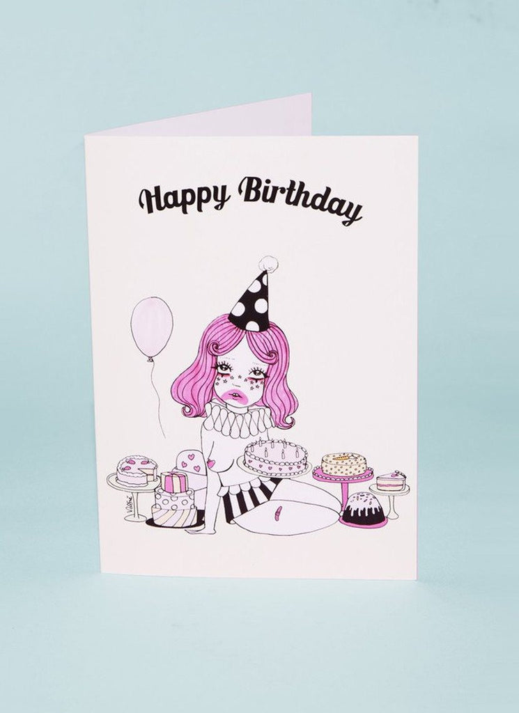 Clown with the most cake greeting card by valfre valfr clown with the most cake greeting card m4hsunfo