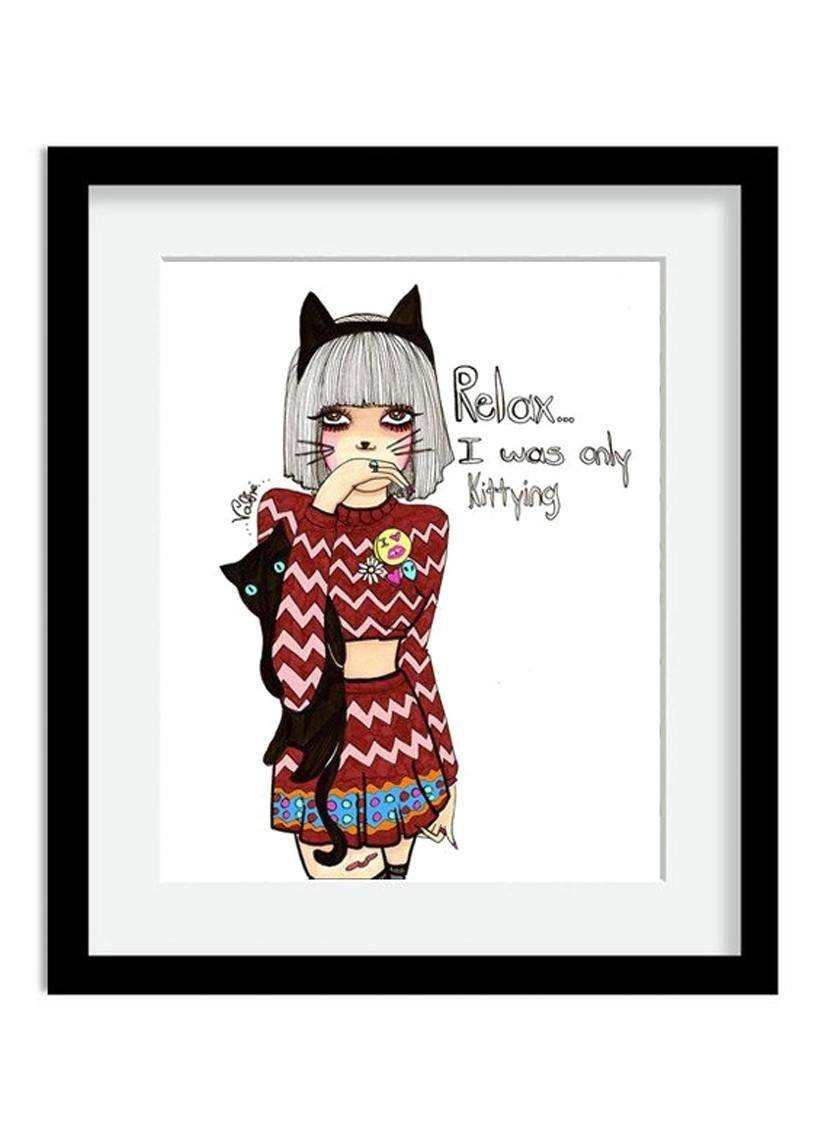 Kittying Print
