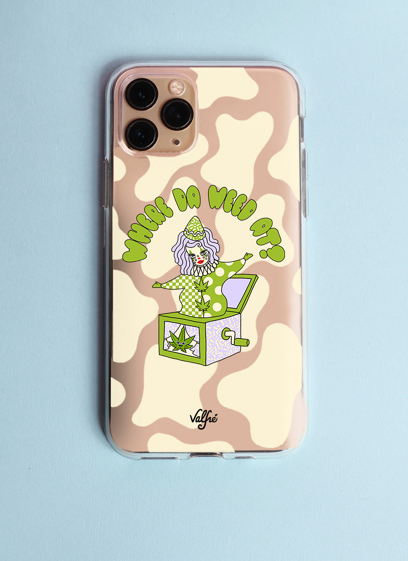 Where The Weed At Glitter Phone Case