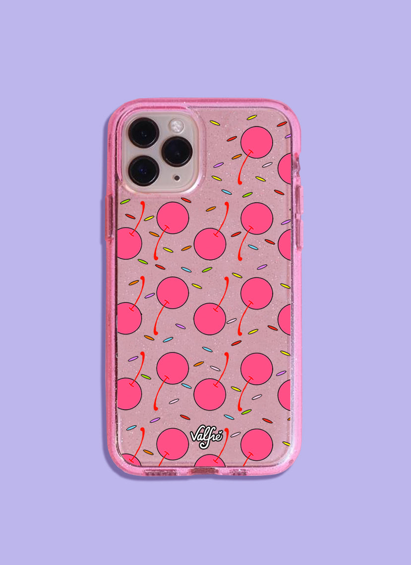 Cerezas Glitter Phone Case