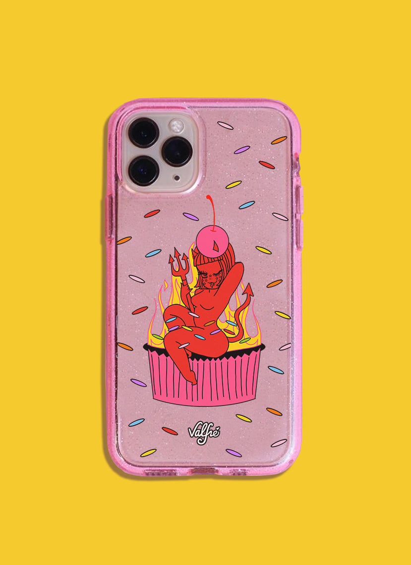 Cherry On Top Glitter Phone Case