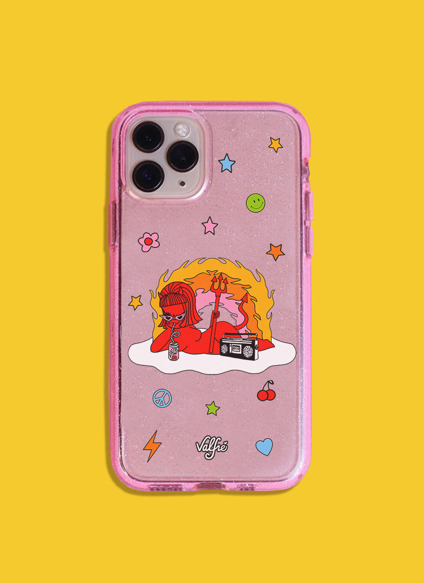 Give Em' Hell Glitter Phone Case