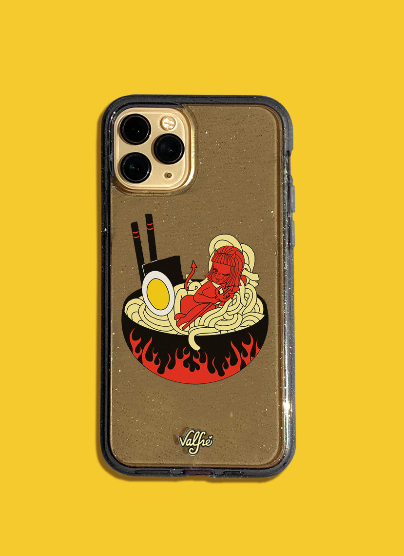 Spicy Lucy Ramen Glitter Phone Case