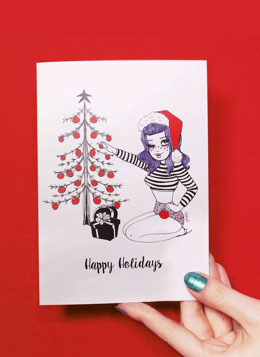 Bettie Happy Holidays Greeting Card By Valfre Valfr