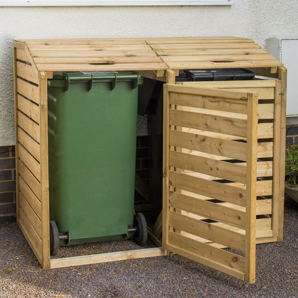 Forest Double Wheelie Bin Hide