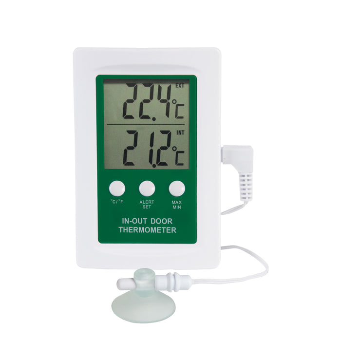 Digital Indoor-Outdoor Thermometer with Alarm