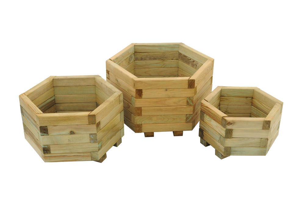 York Hexagonal Planter Set