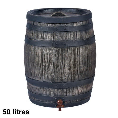 Wood Effect Water Barrel With Stand