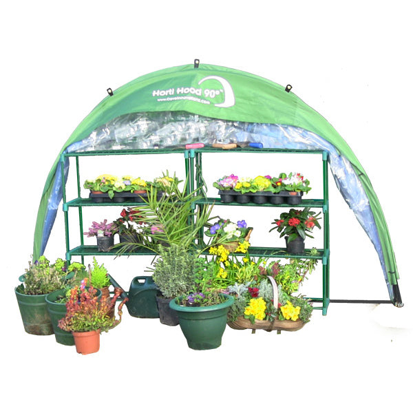 Horti Hood 90 degree Wall Mounted Folding Greenhouse