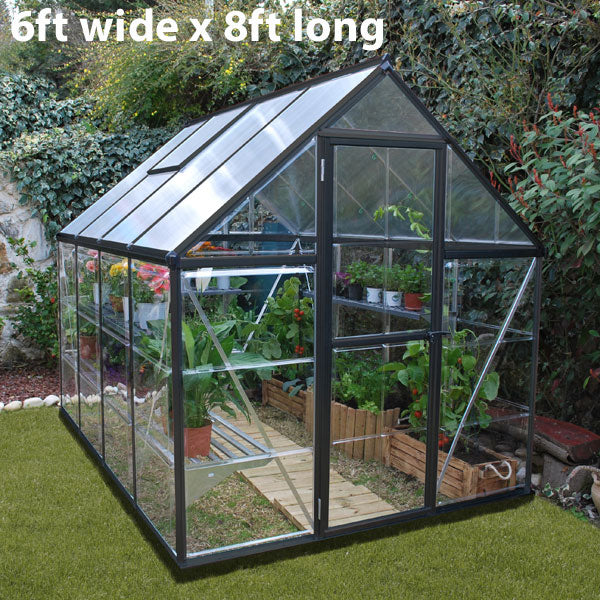 Palram Hybrid Grey Greenhouse