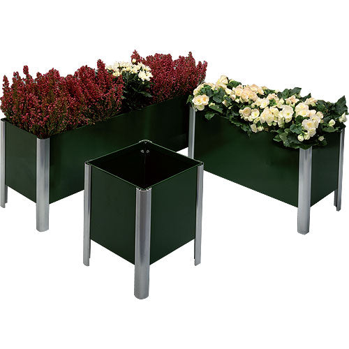 Set of Three Green Single Tier Everlasting Planters