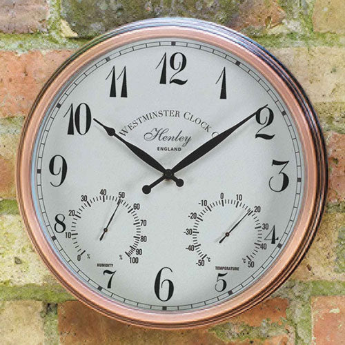 Outdoor Henley Wall Clock And Thermometer
