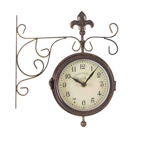 Double Sided York Station Clock And Thermometer