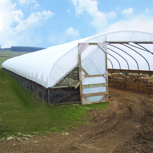 Opaque Tunnel Greenhouse Polythene