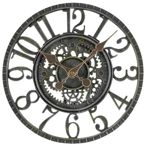 Outdoor Verdigris Newby Mechanical Wall Clock