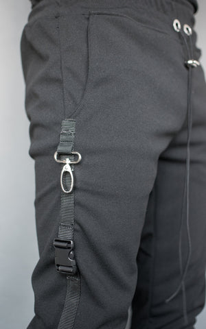 INKLAW STRAPPED PANTS - BLACK
