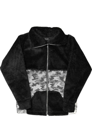 1 OF 10 FAUX SHERPA 50/50 REFLECTIVE CAMO JACKET