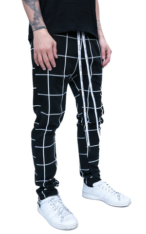 CHECKERED JOGGERS