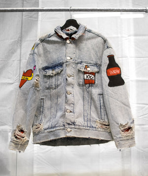1 OF 1 VINTAGE DENIM TRUCKER JACKET - ROCKABILLY