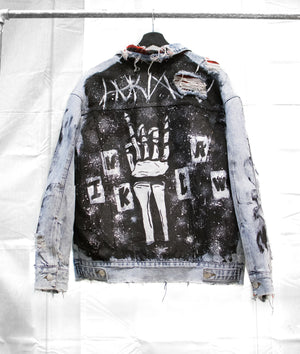 1 OF 1 VINTAGE DENIM TRUCKER JACKET - ROCK 'N' ROLL