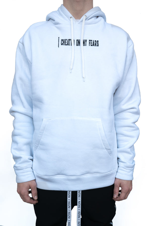 """I Cheated On My Fears"" HOODIE - WHITE"
