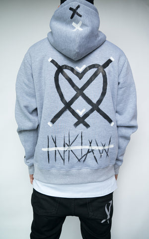 "LIMITED ""STAY AWAY"" HOODIE - GREY"