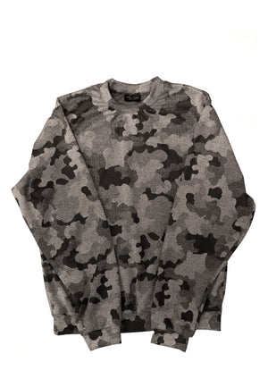1 OF 10 GREY CAMOUFLAGE CREWNECK