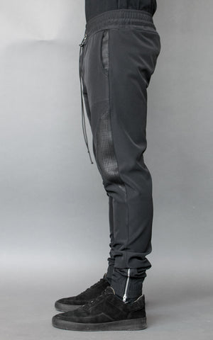 INKLAW SMART PANTS - BLACK / BLACK TARTAN