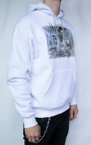 INKLAW CHAIN DOVE HOODIE - WHITE