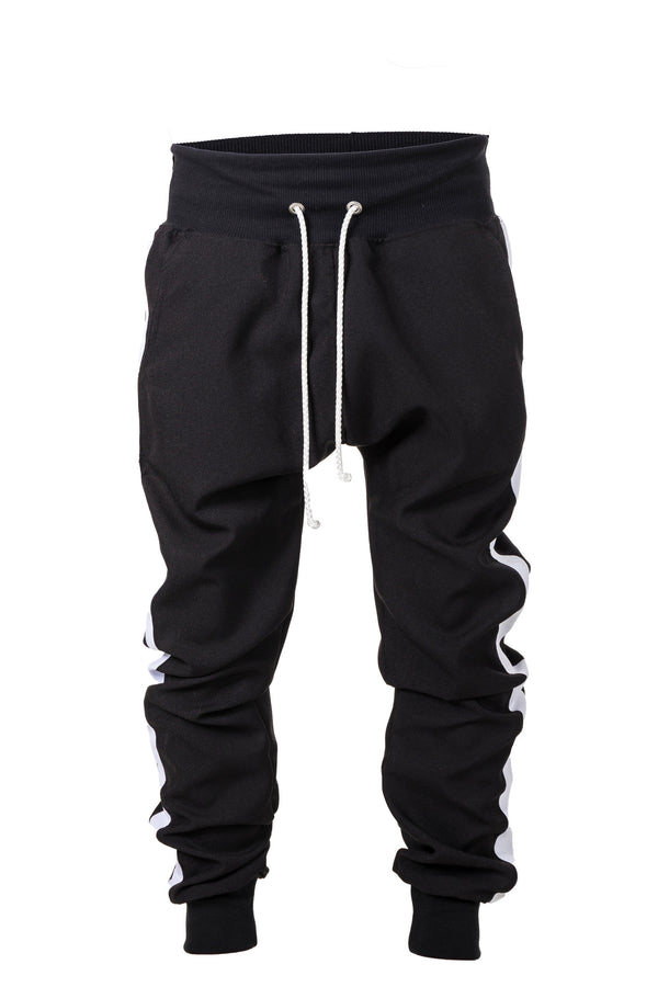 TRACK PANTS - WHITE STRIPED