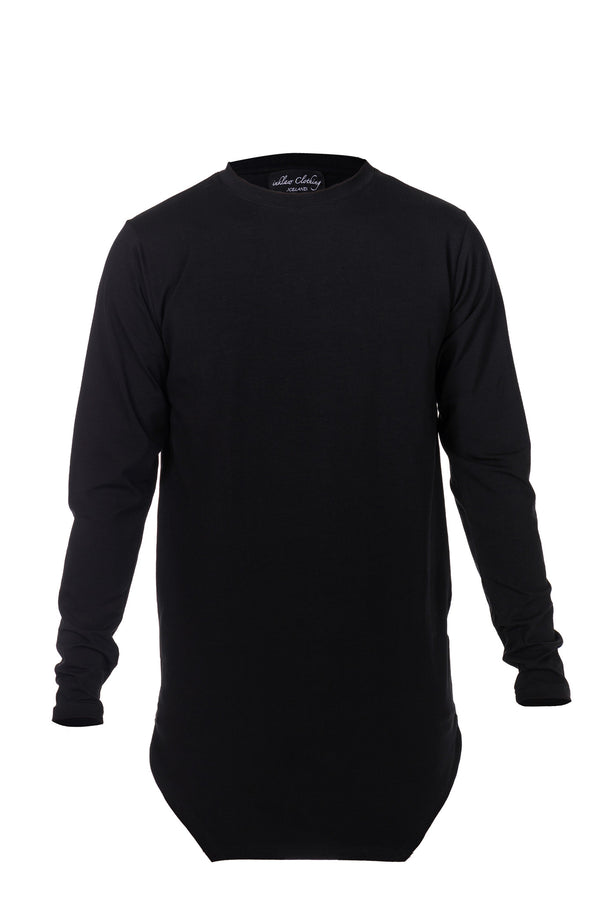 COTTON JERSEY LONG SLEEVE - BLACK