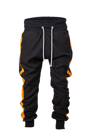 TRACK PANTS - ORANGE STRIPED