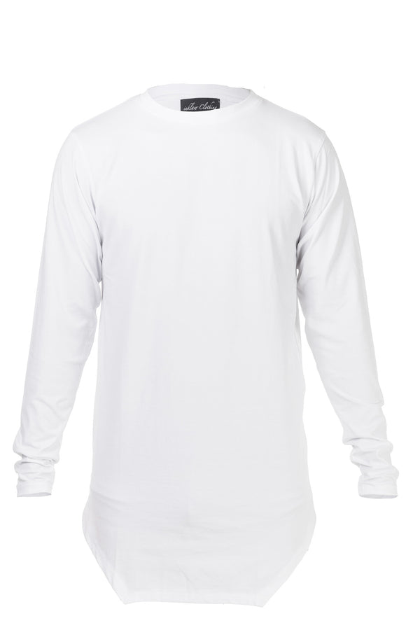 COTTON JERSEY LONG SLEEVE - WHITE