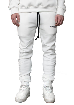 INKLAW ESSENTIAL SWEATPANTS - WHITE