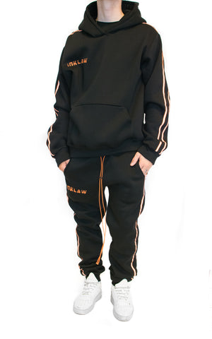 REFLECT STRIPED HOODIE - BLACK