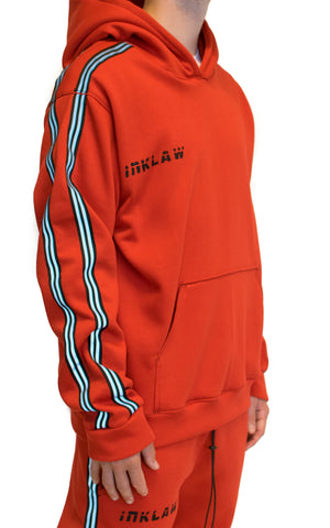 REFLECT STRIPED HOODIE - RED