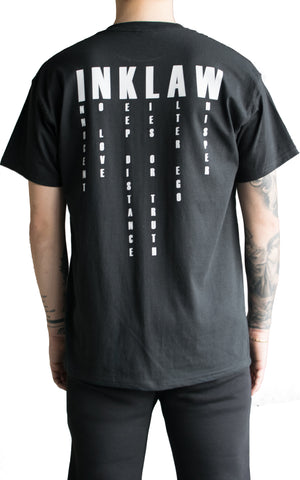 INKLAW IN WORDS T-SHIRT - BLACK
