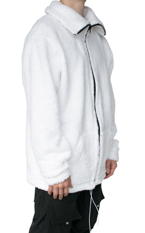 FAUX SHERPA JACKET - WHITE