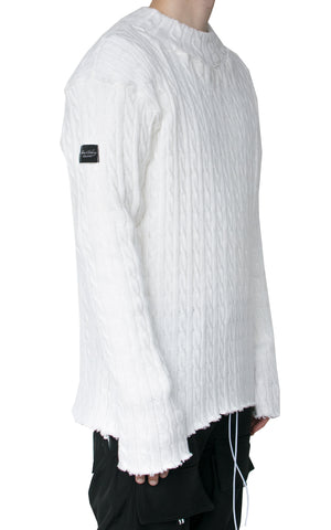INKLAW WINTER SWEATER - OPTICAL WHITE