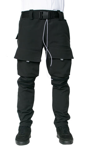 WINTER CARGO PANTS - BLACK