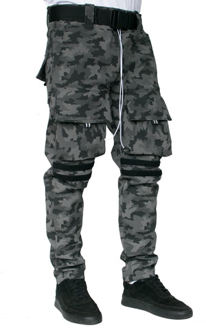 REFLECTIVE WINTER CARGO PANTS - DIGITAL CAMO