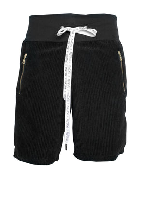 BLACK CORDUROY SHORTS