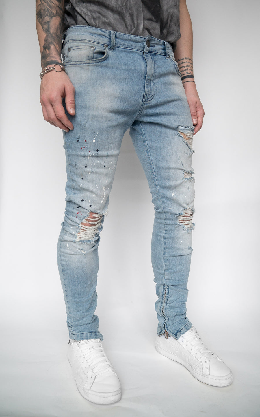 ONYX PAINTER DESTROYED DENIM - INDIGO