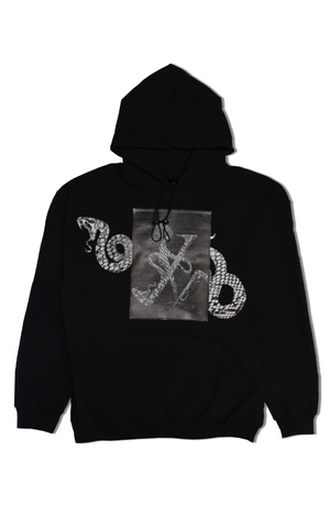 1 OF 10 SERPENT HOODIE - BLACK