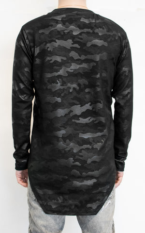 1 OF 10 TECHNICAL JERSEY LONG SLEEVE - BLACK CAMO