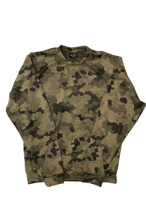 1 OF 10 ARMY GREEN CAMOUFLAGE CREWNECK